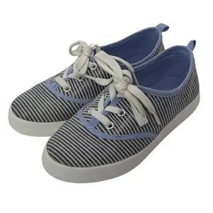 Gymboree canvas striped girls sneakers, size 13